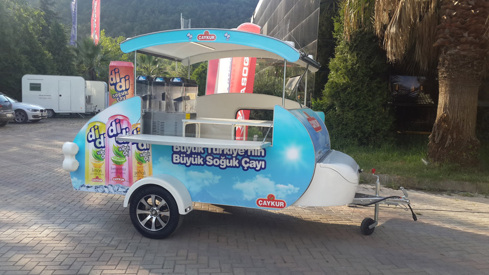 Mini Caravana Caretta Shop heladeía granizados
