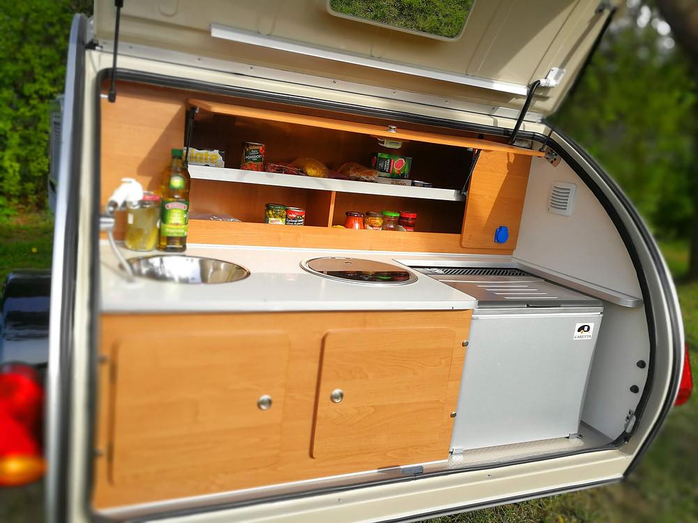 Cocina exterior mini caravana Caretta