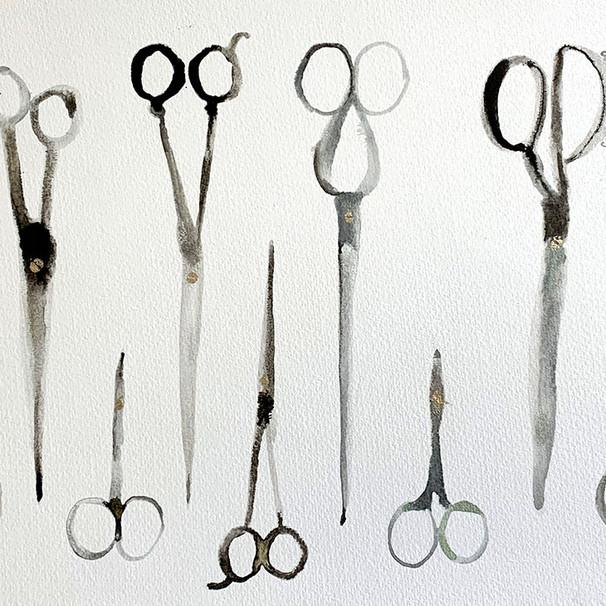 Nine Pairs of Scissors  £280
