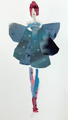 Blue Butterfly Dress  £250