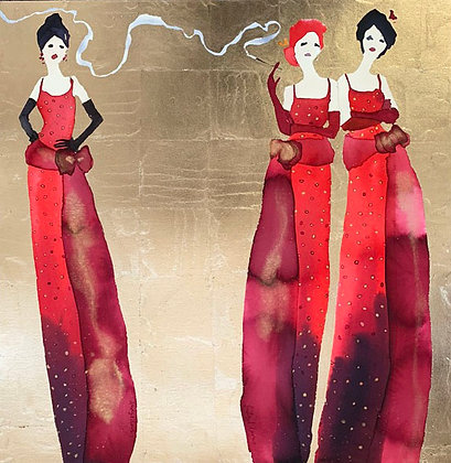 Three Ladies, Same Dress!