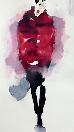 Dark Red Coat  £250