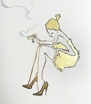 SheWas Partial to the Odd Cigar