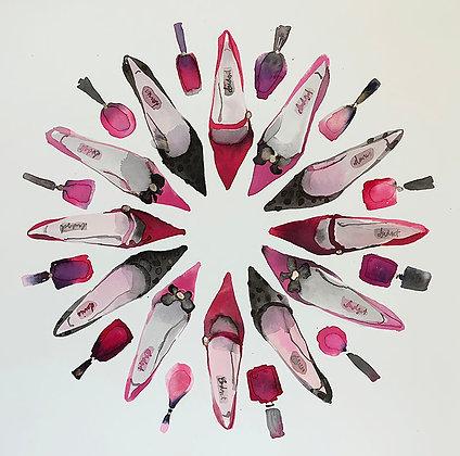 Shoe and Nail Polish Spin