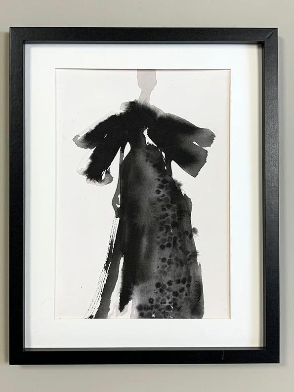 Catwalk Diva - Long Black dress  SOLD