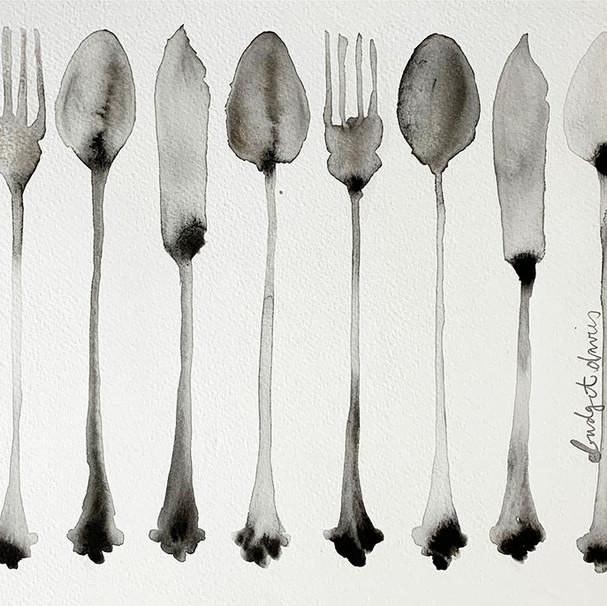 Row of Mum's Fish Cutlery 3 £270