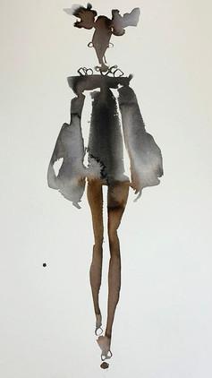 Puff Sleeves Short Skirt £540