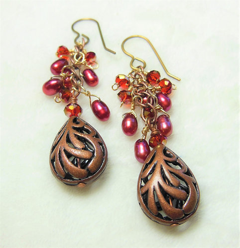 Filigree Copper Drops
