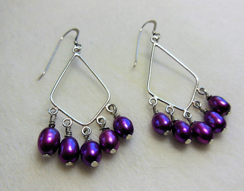 Magenta Dangle Earrings