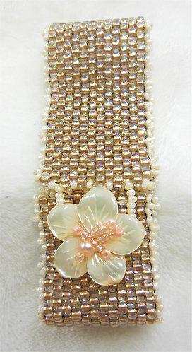 Hibiscus Flower Cuff Bracelet