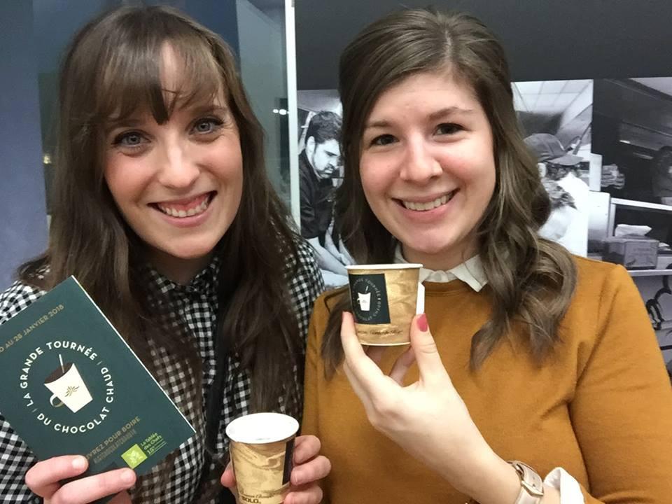 Vanessa et Deborah lors du lancement média de La Grande Tournée du Chocolat