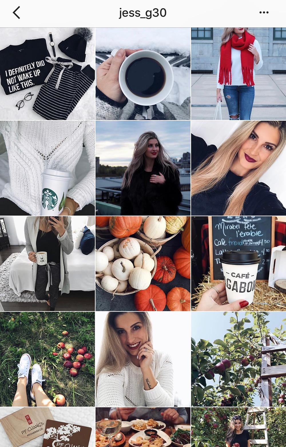 Jessica Garon sur Instagram