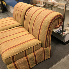 Chairs striped fabric