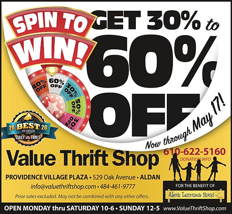 Thrift Shop spin to win sale May 2021.jp