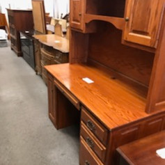 Desk and hutch wood