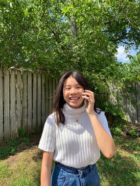 Tara Making a Call to a Resident
