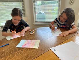 Kids Making Cards