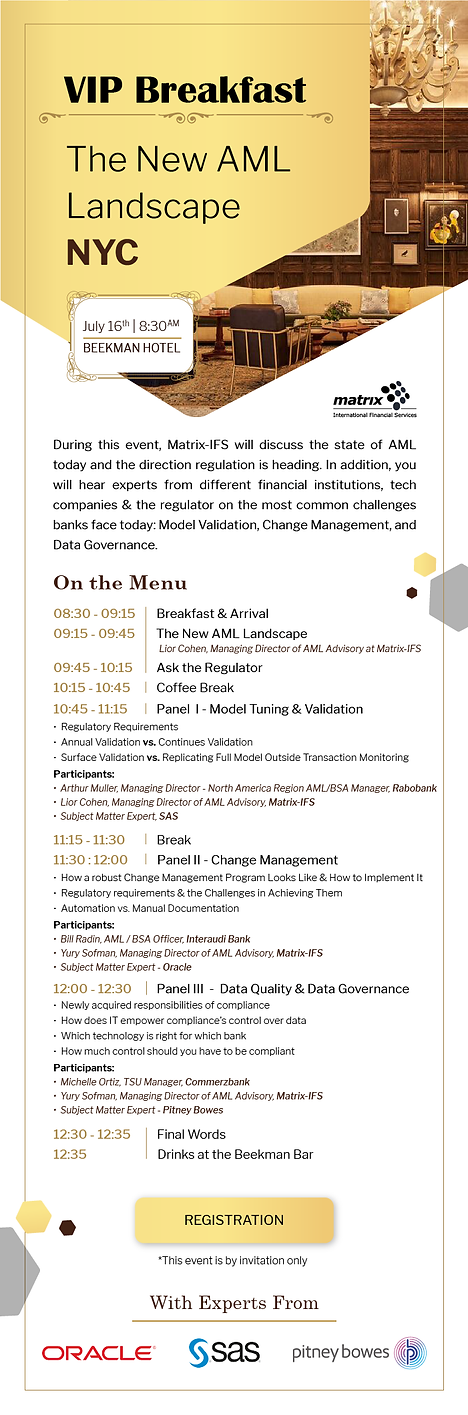 The New AML Landscape Event Invitation -