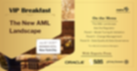 The New AML Landscape Event Invitation -