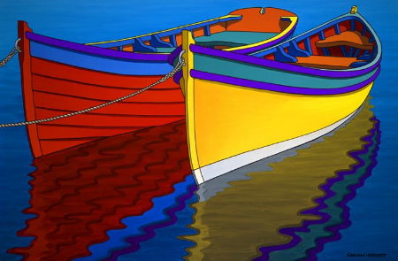 Colourful Rowboats