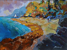 A Day at Hornby Island   Acrylic 18x24 2