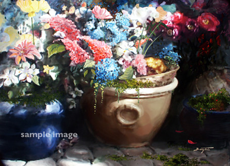 Flower Pots in Spring