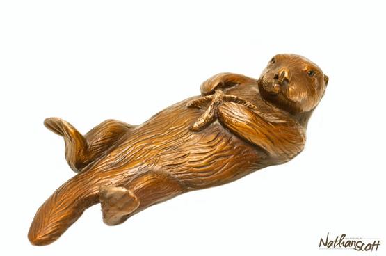 Otter with Starfish
