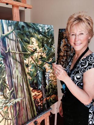 Sheila Warren in her studio