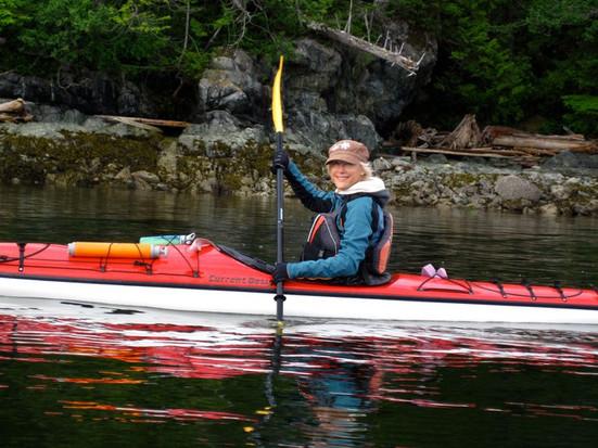 Sheila at play kayaking...