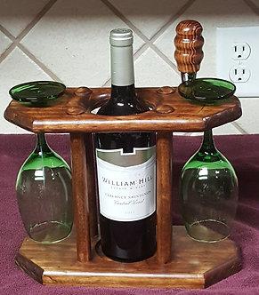 Wine Rack with Glasses