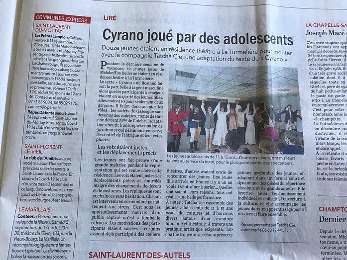 Article Cyrano courrier de l'Ouest.jpg