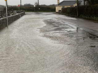 Some recent road flooding around the locality.