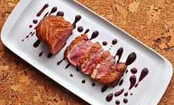 duck-breast-with-blueberry-caramel-sauce