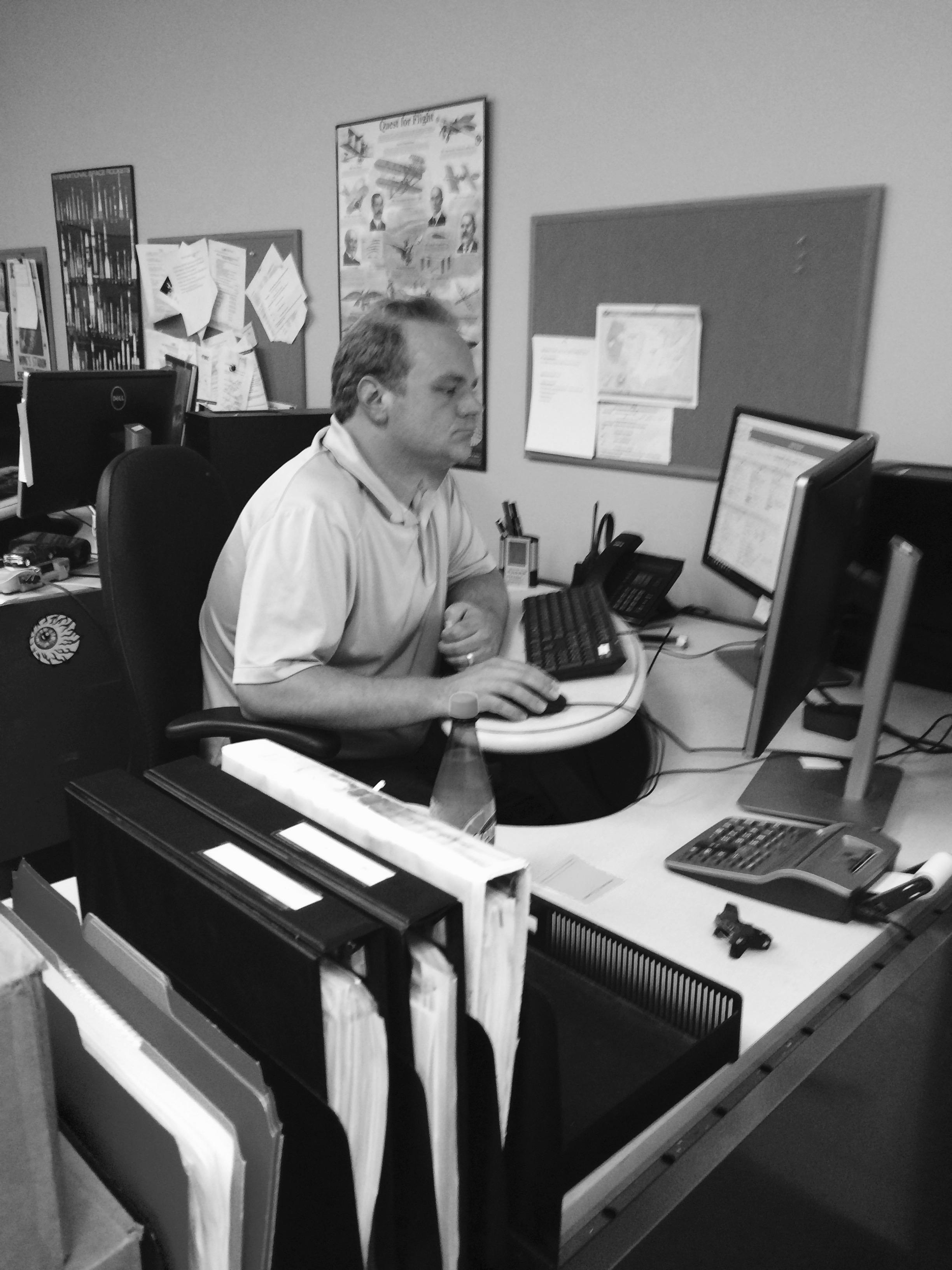 Tyler at Desk