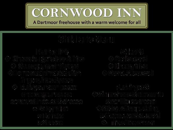 Cornwood Inn Children's Menu