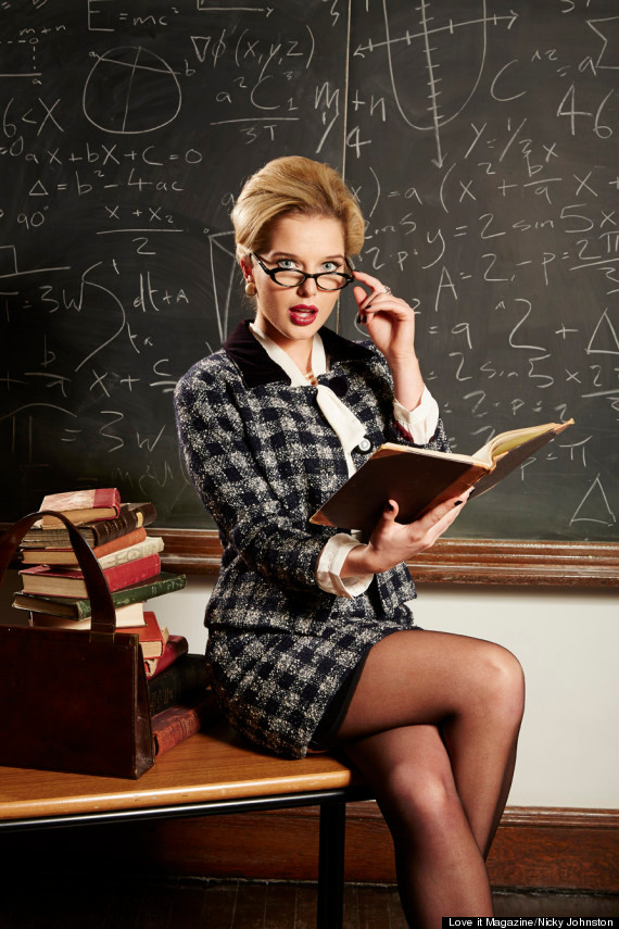 Female Professor with Reading Glasses