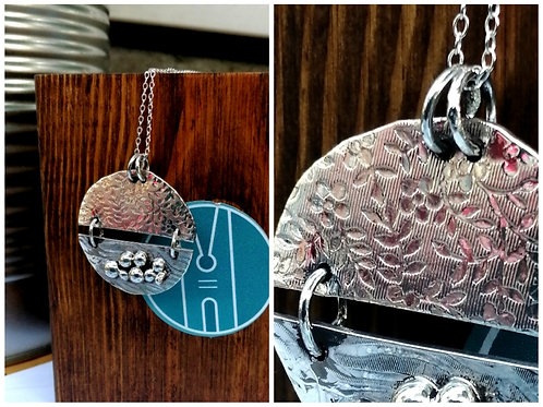 Textured pebble pendant