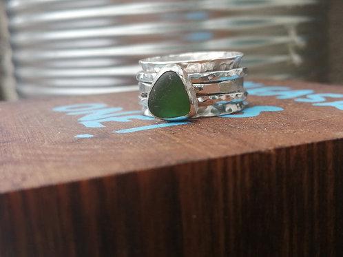 Seaglass Spinner Ring