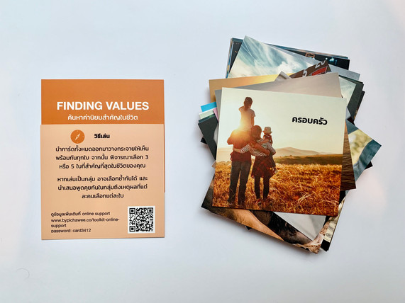 Finding values card