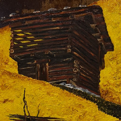 Bauer mit Holzkorb