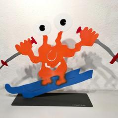 Skifahrer Monster