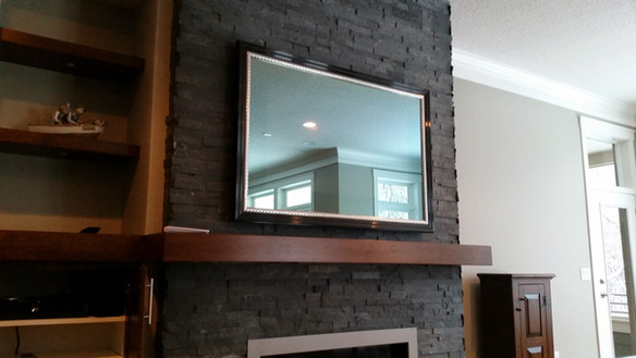 Mirror TV off