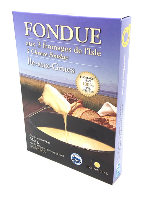 Fondue aux 3 fromages de L'île-aux-Grues (350g)