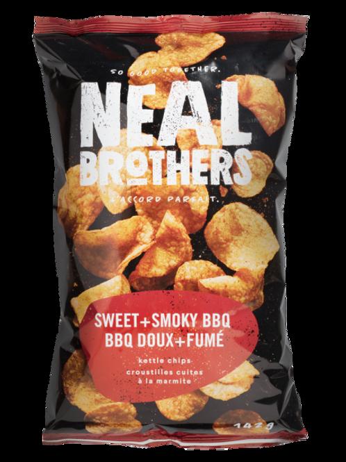 Neal Brothers croustilles - BBQ doux + Fumé