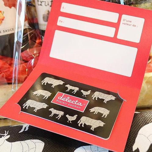 Carte Cadeau Délecta - Plaisir Cochon