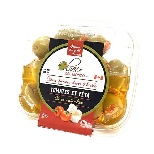 Olives farcies - Tomates et feta