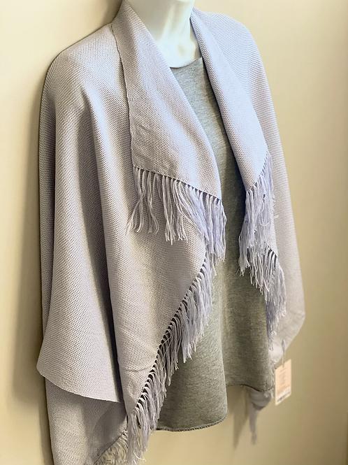 Tencel poncho shawl