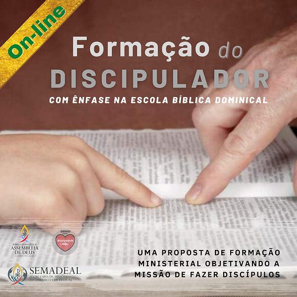 BANNER QUADRADO FORMAÇÃO DO DISCIPULADOR
