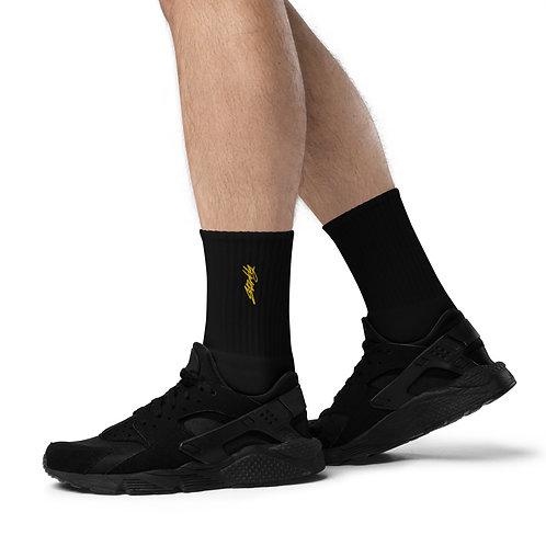 Starkly Embroidered socks
