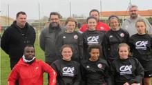 Remise d'équipement à l'équipe féminine U15